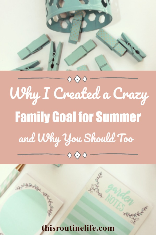 Why I Created a Crazy Family Goal for Summer and Why You Should Too