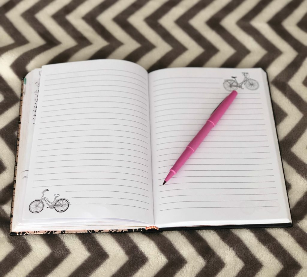 A notebook with pen for writing down your thoughts