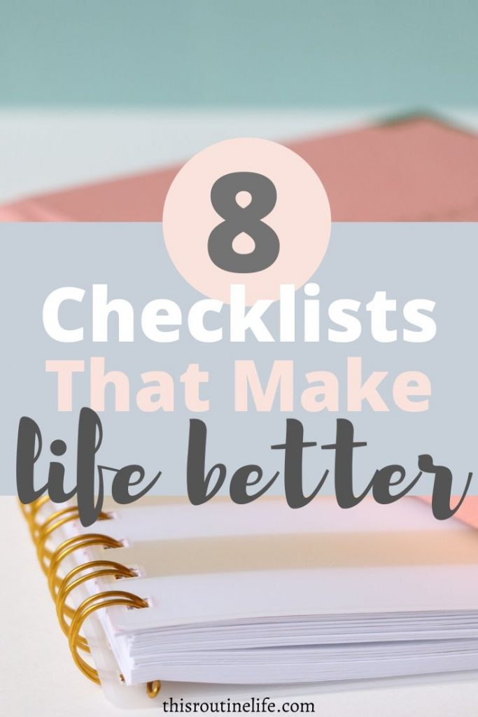 8 Checklists That Make Life Better