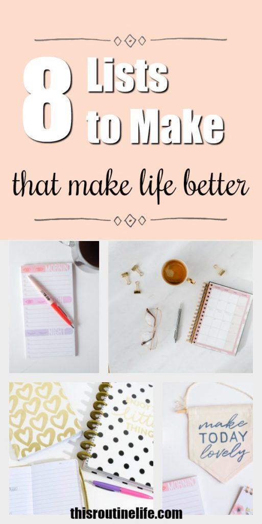 8 Lists to Make that Make Life Better