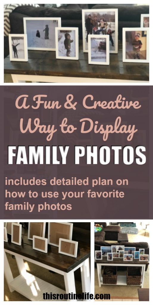 A fun and creative way to display family photos