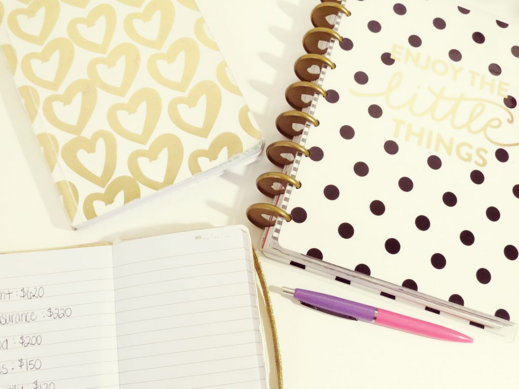 Notebooks used for making lists