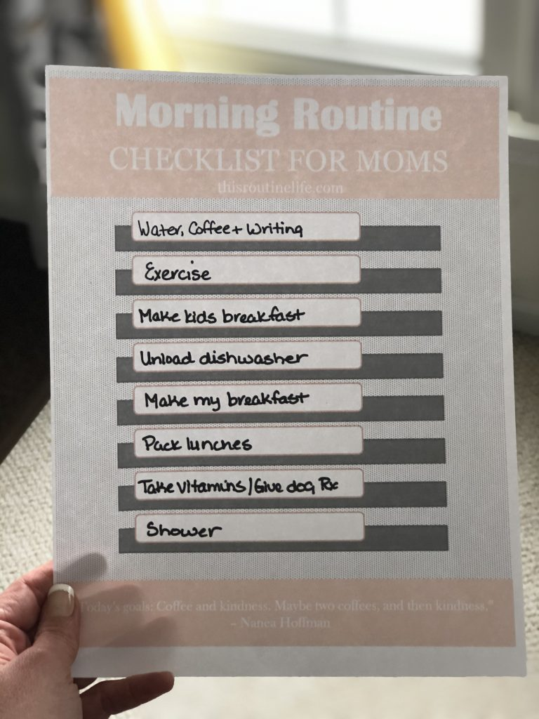 Morning Routine Checklist to Fill Out