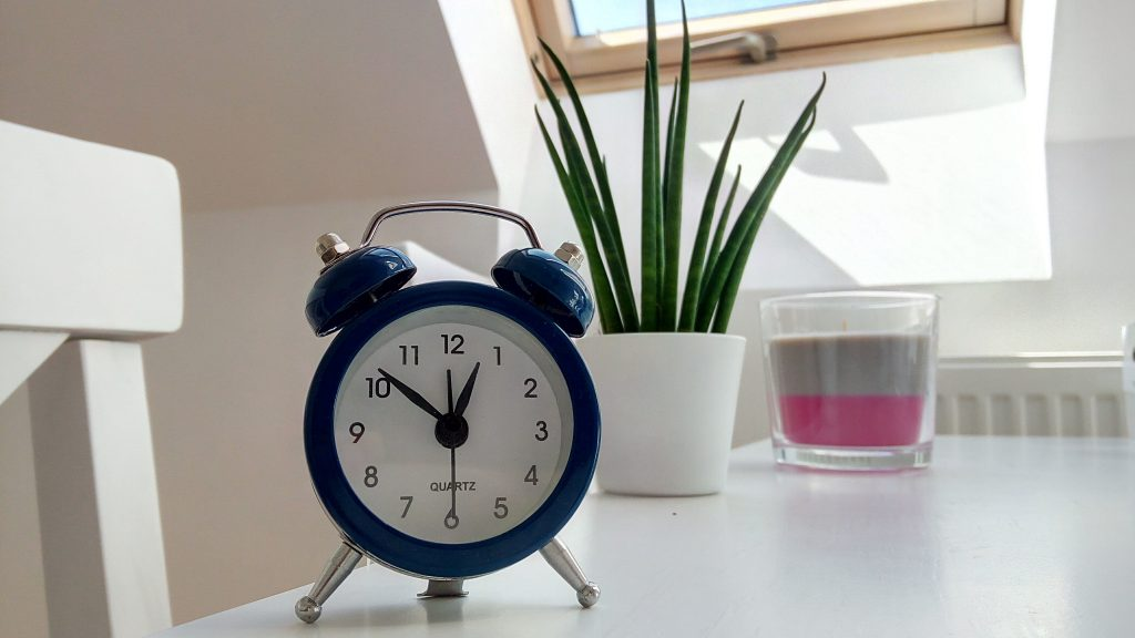Alarm clock to help wake up before your kids