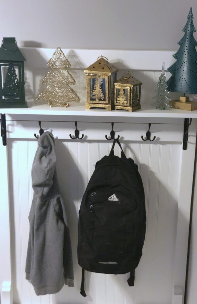backpack hung up after school