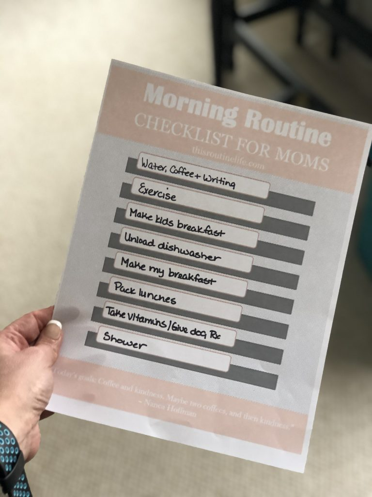 Morning Routine Checklis