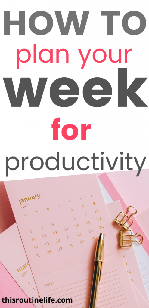 How To Plan Your Week for Productivity
